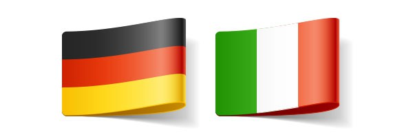 German and Italian flags, translator living in Austria