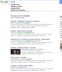 "Google search results for the term ""Iolante"""