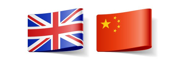 'English' and Chinese flags representing these languages in translators' directory
